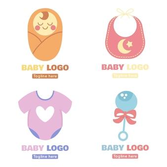 Paquete de logo de bebé