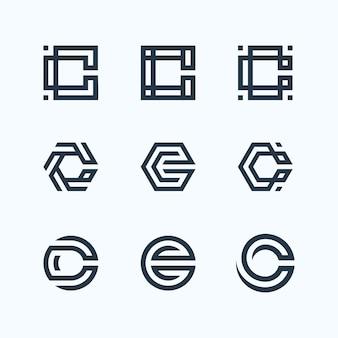 Paquete de logo de letra c