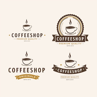 Un paquete de logo de una taza de café