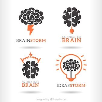 Paquete de logos de lluvia de ideas