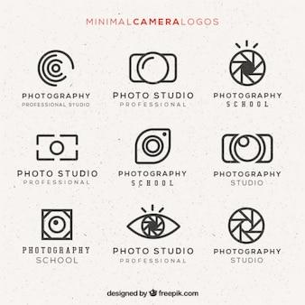 Paquete de logos minimal de cámara