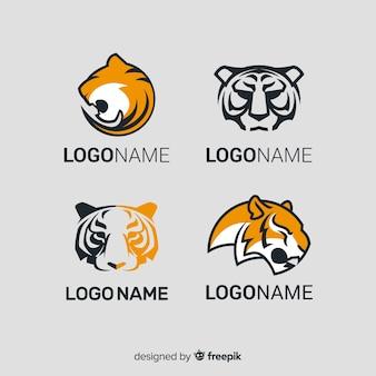 Paquete logos simples tigre