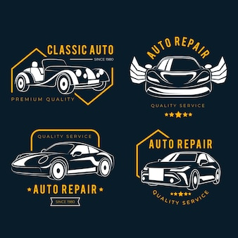 Paquete de logotipo del coche