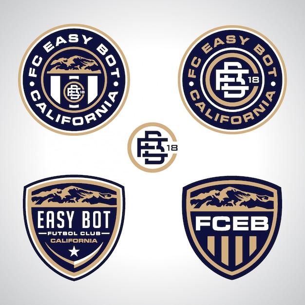 Paquete de logotipo del equipo deportivo