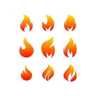 Paquete de logotipo de fuego