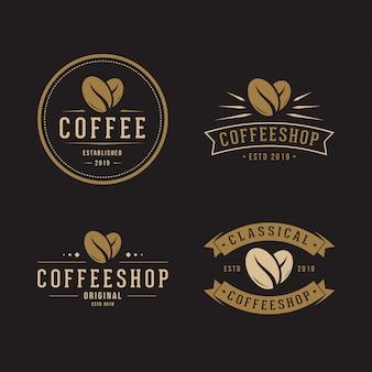 Paquete de logotipo de grano de café