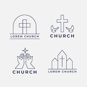Paquete de logotipo de la iglesia