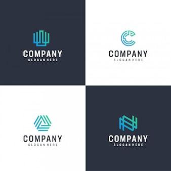 Paquete de logotipo moderno inspirador