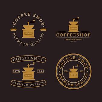 Paquete de logotipo de molinillo de café
