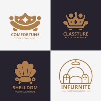 Paquete de logotipo de muebles