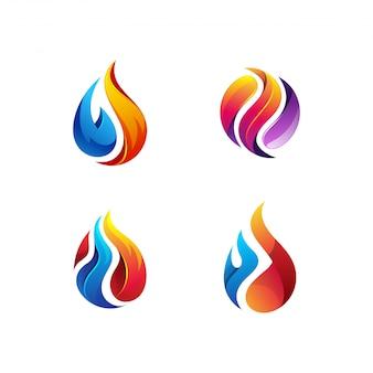 Paquete de logotipo de petróleo y gas