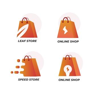 Paquete de logotipo de supermercado