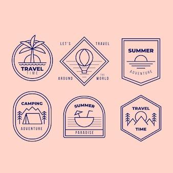 Paquete de logotipo de viaje