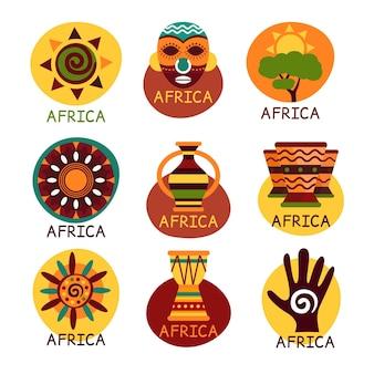 Paquete de logotipos de mapas de áfrica