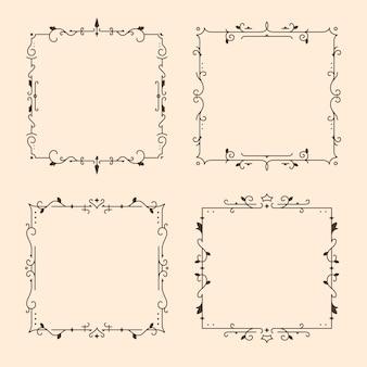 Paquete de marcos ornamentales vintage