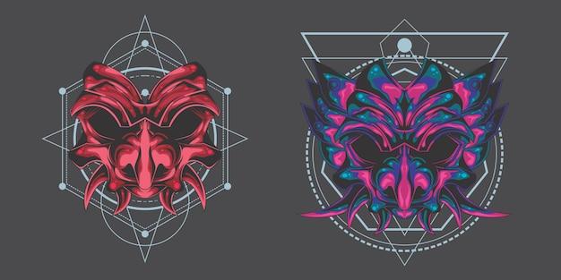 Paquete de máscara de demonio