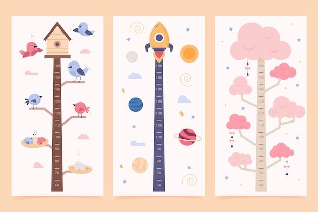 Paquete de medidor de altura de diseño plano