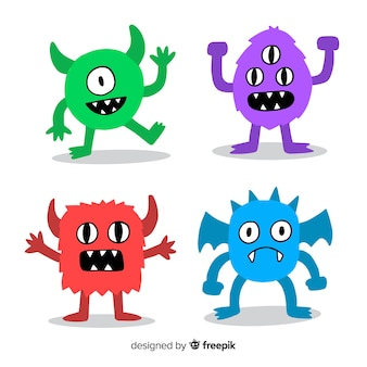 Paquete monstruos amistosos