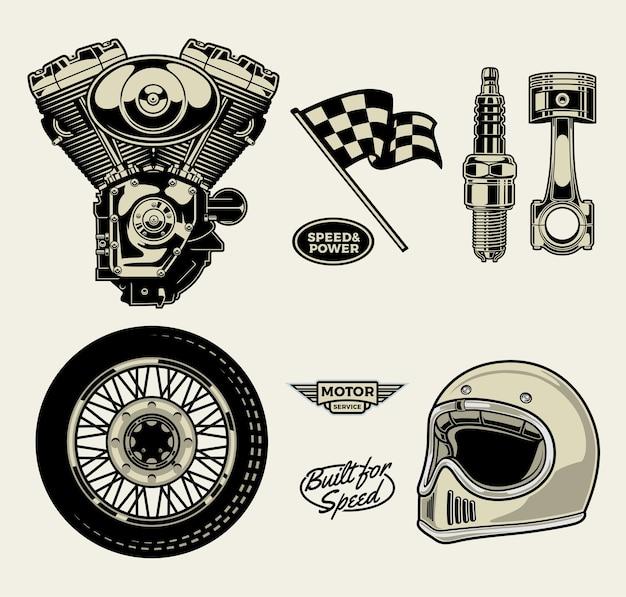 Paquete de motocicleta