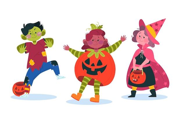 Paquete de niños de halloween
