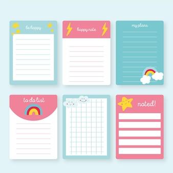 Paquete de notas y tarjetas de álbum de recortes