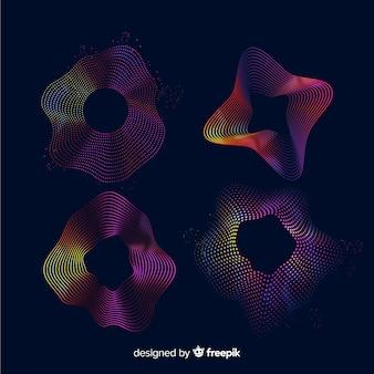 Paquete de ondas de luz de colores