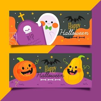 Paquete de pancartas de halloween