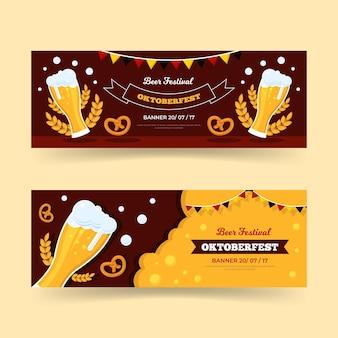 Paquete de pancartas del oktoberfest