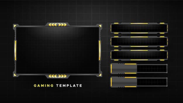 Paquete de paneles de transmisión de juegos abstractos