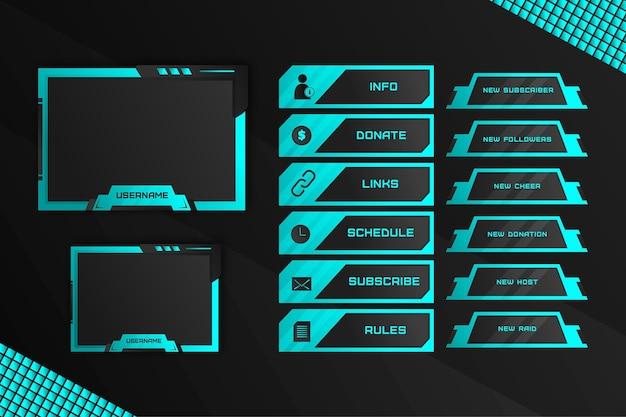 Paquete de paneles de transmisión twitch