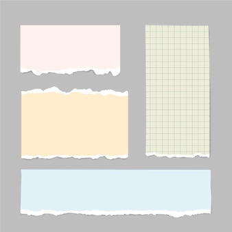 Paquete de papel rasgado realista