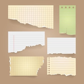 Paquete de papel rasgado vintage
