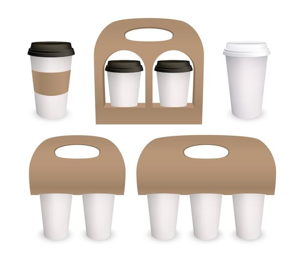 Paquete de papel de taza de café