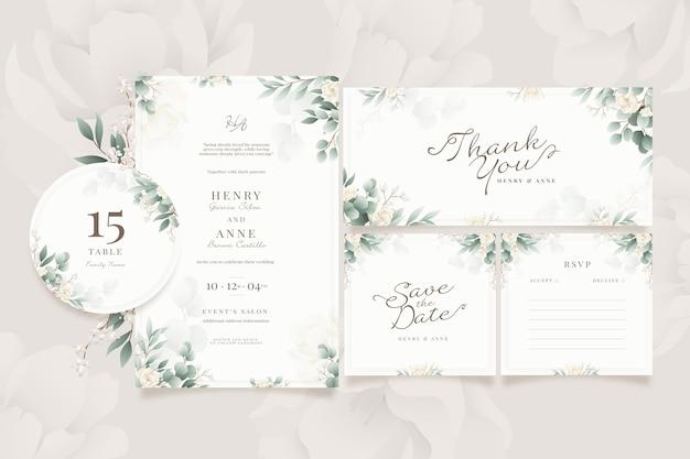 Paquete de papelería de boda