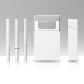 Paquete de paquete en blanco caja de cigarrillos