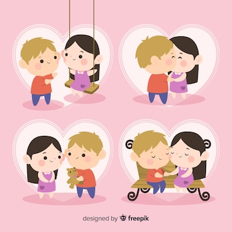 Paquete pareja adorable san valentín