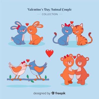 Paquete parejas animales día de san valentín
