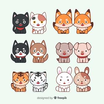 Paquete parejas de animales san valentín