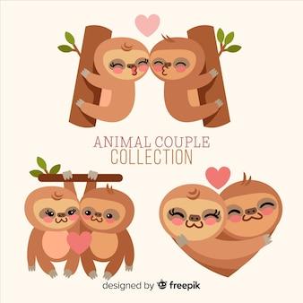 Paquete parejas de perezosos día de san valentín