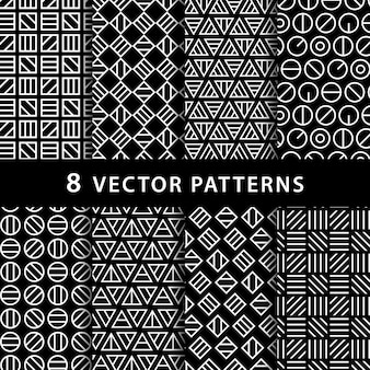Paquete de patrón abstracto geométrico
