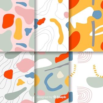 Paquete de patrones abstractos dibujados a mano