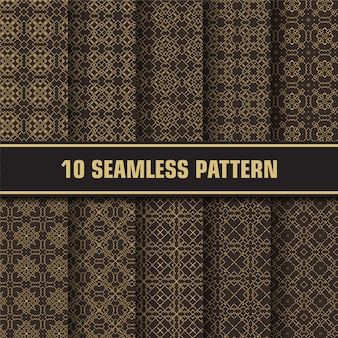 Paquete de patrones abstractos de lujo