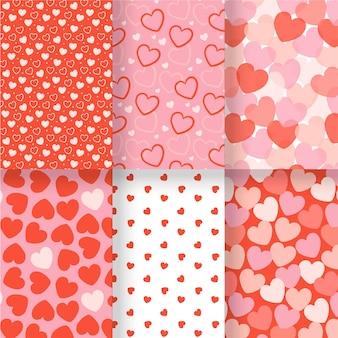 Paquete de patrones de corazón dibujados