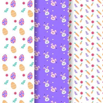 Paquete de patrones del día de pascua