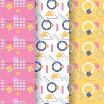 Paquete de patrones de estilo memphis