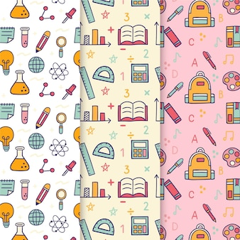 Paquete de patrones de eventos de regreso a la escuela