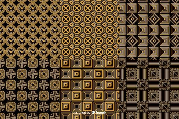 Paquete de patrones geométricos de lujo