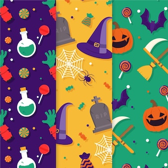 Paquete de patrones de halloween