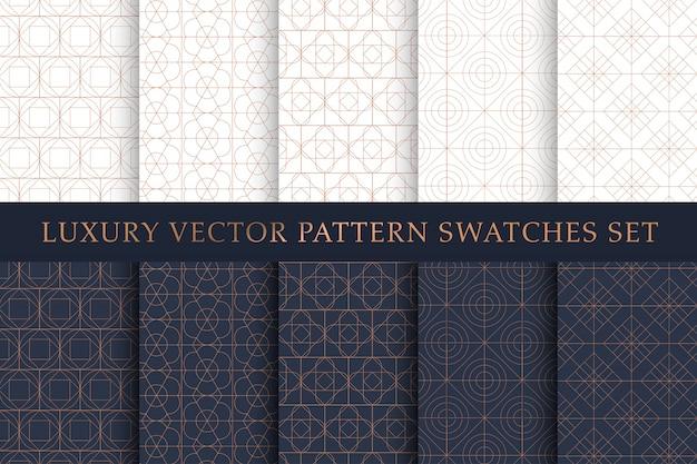 Paquete de patrones de muestras de lujo de cobre dorado