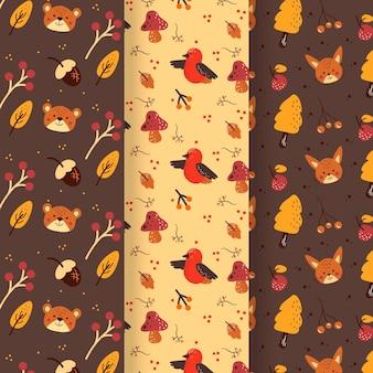 Paquete de patrones de otoño